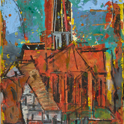 Kirche in Wustrow | 2004 | Acryl | 585x780
